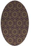 rug #926565 | oval purple circles rug