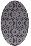 rug #926569 | oval purple damask rug