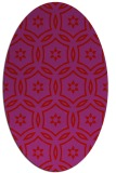 rug #926585 | oval pink rug