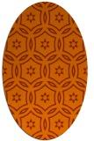 rug #926589 | oval red-orange damask rug