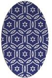 rug #926613 | oval white geometry rug