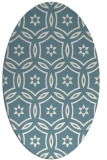 rug #926621 | oval white geometry rug