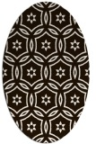 rug #926637 | oval brown circles rug