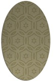 rug #926657 | oval light-green popular rug