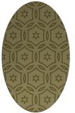 rug #926665 | oval light-green circles rug
