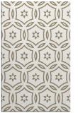 rug #926841 |  mid-brown circles rug