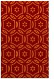 rug #926885 |  red-orange circles rug