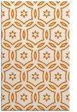 rug #926889 |  orange geometry rug