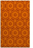 rug #926949 |  red-orange circles rug