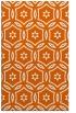 rug #926961 |  red-orange damask rug