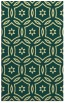 rug #927009 |  blue-green circles rug