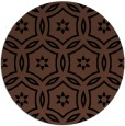 rug #927061 | round brown damask rug