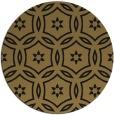 rug #927073 | round brown damask rug