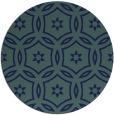 rug #927085   round blue damask rug