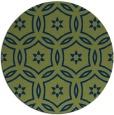 rug #927089 | round green circles rug