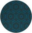 rug #927113 | round blue circles rug