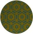 rug #927125 | round green damask rug