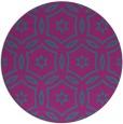 rug #927129 | round pink damask rug