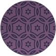 rug #927145 | round purple rug