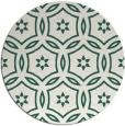 rug #927181 | round green damask rug