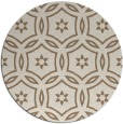 rug #927197 | round mid-brown damask rug
