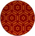 rug #927245 | round red-orange circles rug