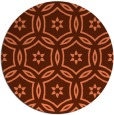 rug #927257 | round red-orange circles rug
