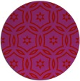 rug #927305 | round red rug