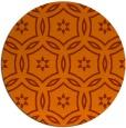 rug #927309 | round red-orange damask rug