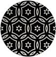 rug #927325 | round black geometry rug