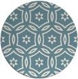 rug #927341   round white damask rug