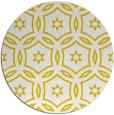 rug #927361 | round yellow circles rug