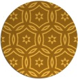 rug #927365 | round light-orange damask rug