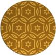 rug #927365 | round yellow damask rug