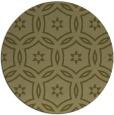 rug #927385 | round light-green circles rug