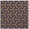 rug #927873 | square blue-violet retro rug