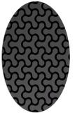 rug #928133 | oval black retro rug