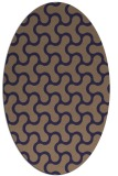 rug #928233 | oval beige retro rug