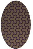rug #928365   oval purple retro rug