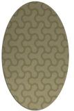 rug #928457 | oval light-green rug