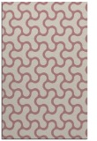 rug #928833 |  pink retro rug