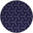 rug #928933 | round blue-violet retro rug