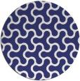 rug #929133 | round blue retro rug