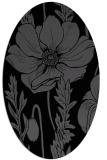 rug #929933 | oval black natural rug