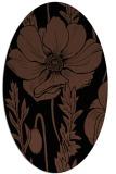rug #929941 | oval black natural rug