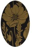 rug #929945 | oval black natural rug