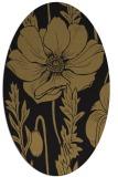 rug #929953 | oval brown rug