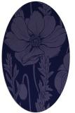 rug #930013 | oval blue-violet graphic rug