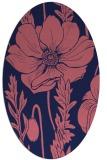 rug #930021 | oval pink graphic rug