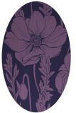 rug #930025 | oval purple graphic rug